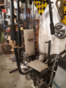 weider pro weight lifting work out equipment