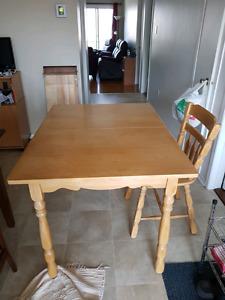 Table de cuisine en érable
