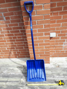 Snow shovel  14 inches wide,  solid and durable.  Like new.