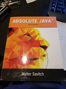 Absolute Java Sixth Edition