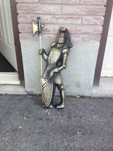 WROUGHT IRON KNIGHT WITH SWORD/UNIQUE ITEM