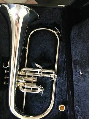 YAMAHA BOBBY SHEW PRO MODEL Bb FLUGELHORN Superb Condition!! Silver Finish