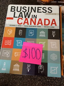 Business Law in Canada 11th edition textbook