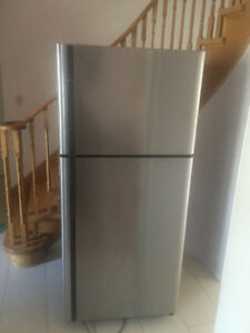 Kenmore Stainless Steel fridge for sale 68h 30w 31d