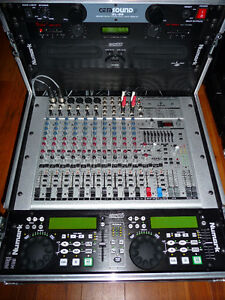mixer cd  avec road case pour disco mobile
