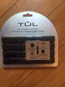 TUL Fine Tip Dry Erase Markers, 4 Black Markers