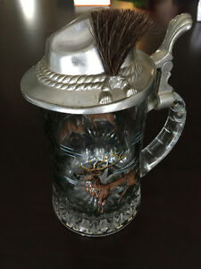 Oktoberfest Vintage BMF Beer Stein made in W. Germany w. Hat Lid Cambridge Kitchener Area image 2