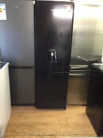 Black fridge freezer with water dispenser