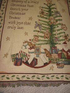 Christmas Tapestry Throw