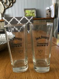 Two Jack Daniels Honey Glasses
