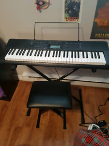 Casio Keyboard and Stool