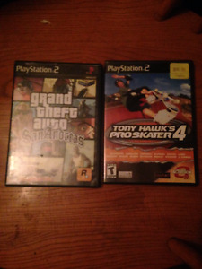 GTA San Andreas & Tony Hawk Pro Skater 4 PS2