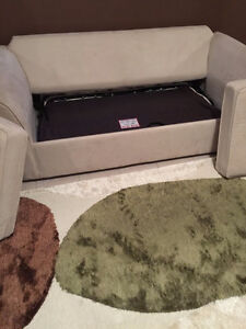 off white suede couch/hideabed $150 like new Edmonton Edmonton Area image 3