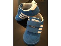 Adidas Blue crib trainers size 3