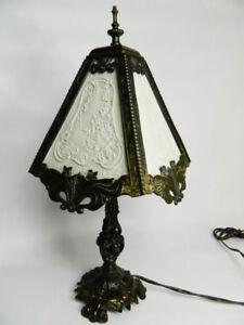 Lampe de fer -vitrail décoratif peint-