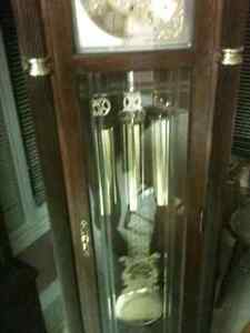 Beautiful Oak Trend, by Sligh Cable Drive Grandfather Clock London Ontario image 2