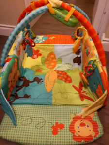 Bright Starts baby activity gym and mat.