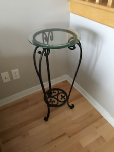 Glass Accent table.