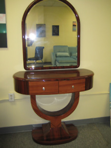 console/hallway table and mirror for sale