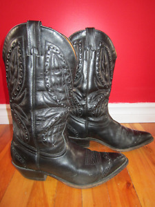 Men's leather Cowboy Boots Size 8.5 , Style #25