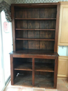 Refinished antique open dish cupboard