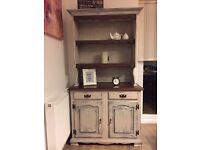 A beautiful country-farmhouse Welsh dresser, sideboard, upcycled and slightly distressed