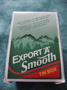 "VINTAGE EXPORT ""A"" SMOOTH CIGARETTE TIN BOX"
