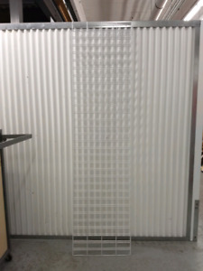 Slat wall grid coated white Display rack about 9 ft tall $30