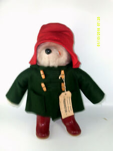 Vintage Paddington Teddy Bear with Coat,Hat, Boots and Tag