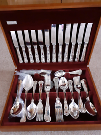 Cooper Ludlam silver plated cutlery canteen 56 piece