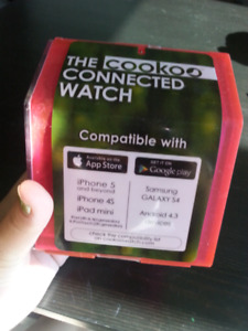 Pink cookoo connected watch