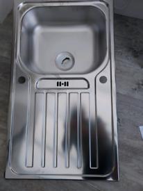 Kitchen sink 500 x 870 Tibet 1 Bowl RVS Brushed steel