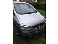 Vauxhall zafira 1.8 52 plate