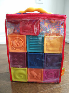 B Toys One Two Squeeze Blocks