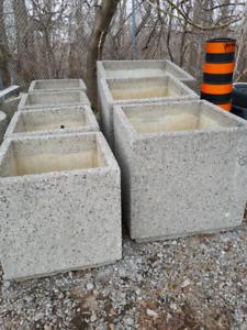 Stone cement planters