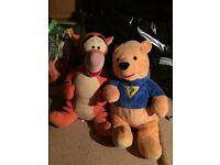 Large Winnie and tigger teddys
