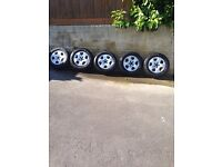 """Audi A3 15"""" alloys - almost new tyres (NOW REDUCED)"""
