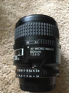Nikon AF Micro Nikkor 60mm 1:2.8D Lens