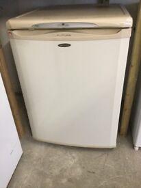 Hotpoint under counter fridge, Cream and white inside