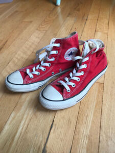Converse High Tops - Red - Womens Size 6.5 - Mens 4.5