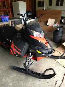 "2014 Summit X 154"" plus sled deck and snowpulse pack"