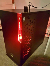 Red LED CyberPower custom build Gaming PC