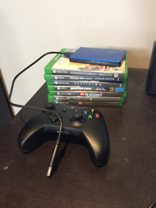 Xbox One games, hard drive and controller