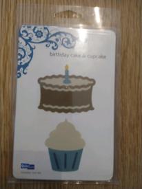 Quic Kutz birthday cake and cupcake dies die cutting machine cuttlebug