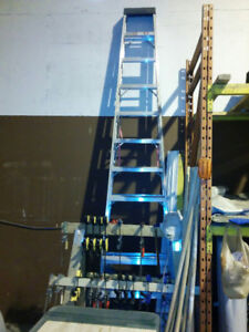 Step ladder 12 ft  Aluminum -- WCB Approved