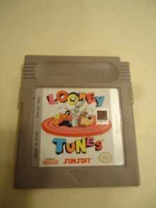 2 NINTENDO GAMEBOY GAMES - F1 RACE & LOONEY TUNES - $10 EACH