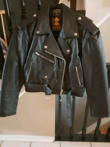 NEW Womans leather biker jacket
