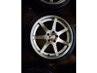 "19"" CALIBRE ALLOY WHEELS BMW 3 SERIES 5 SERIES SET OF 4"