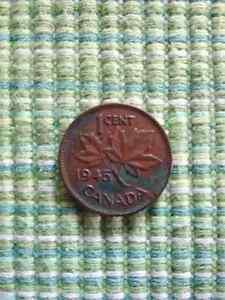 Monnaie Canada 1 cent 1945