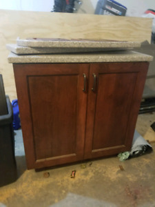 Rolling island with granite top